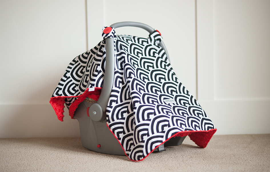 minky blanket type carseat cover