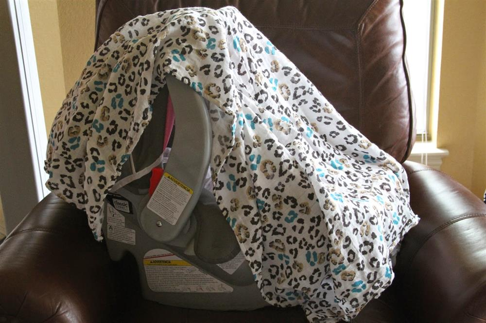 swaddle blanket as carseat cover