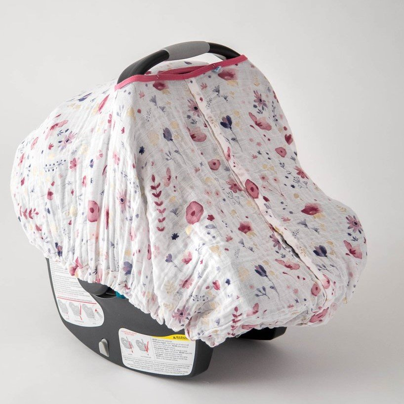 little unicorn muslin carseat cover