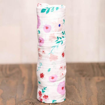 Picture of Cotton Muslin Swaddle Single - Morning Glory by Little Unicorn