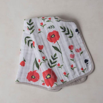 Picture of Cotton Muslin Burp Cloth -Summer Poppy by Little Unicorn