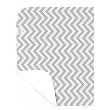 Picture of Deluxe Change Pad Flannel- Chevron Grey