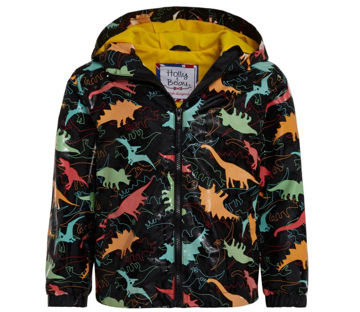 Picture of Color Changing Black Dinosaur Raincoat