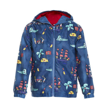 Picture of Color Changing Blue Pirate Raincoat