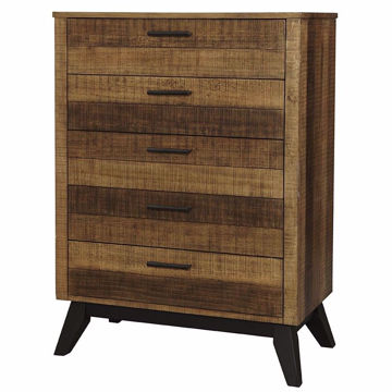 Picture of Urban Rustic 5 Drawer Chest - Brushed Wheat