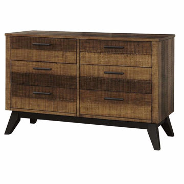 Picture of Urban Rustic 6 Drawer Dresser - Brushed Wheat