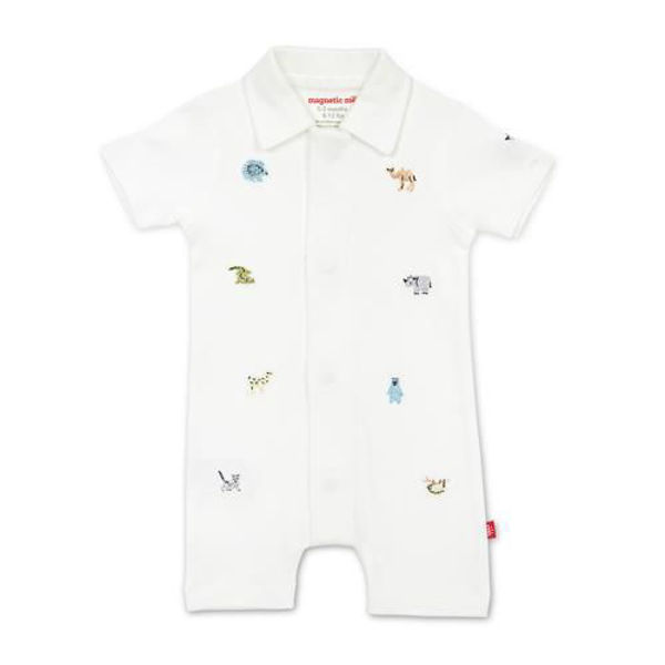 Picture of Zoo Crew Organic Magnetic Polo Romper