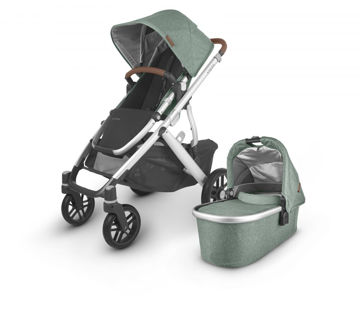 Picture of Uppa Baby VISTA V2 Stroller - EMMETT (green melange/silver/saddle leather)