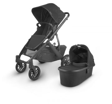 Picture of Uppa Baby VISTA V2 Stroller - JAKE (black/carbon/black leather)