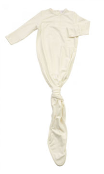 Picture of Angel Dear Basics Ivory - Solid Knotted Gown - Bamboo (0-3Months)