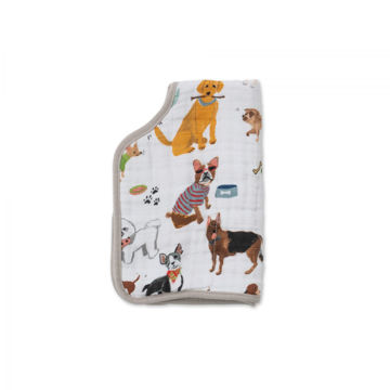 Picture of Cotton Muslin Burp Cloth - Woof by Little Unicorn