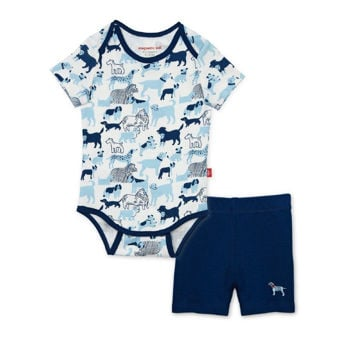 Picture of Best In Show Organic Magnetic Bodysuit + Shorts Set
