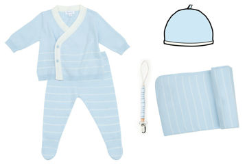 Picture of Heirloom Newborn Euro Knit Gift Set - Blue
