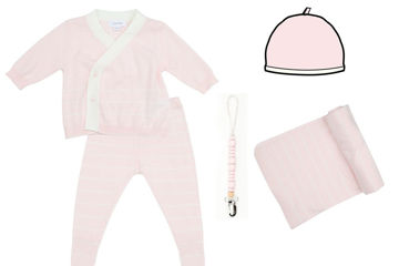 Picture of Heirloom Newborn Euro Knit Gift Set - Pink